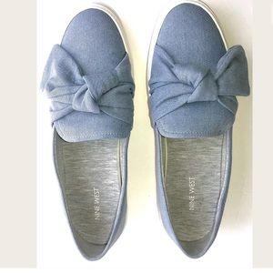 Nine West Onosha Blue Denim Fashion Sneakers